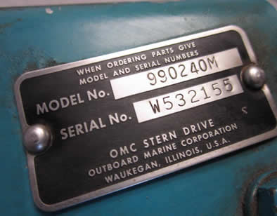 OMC Model Number Tag